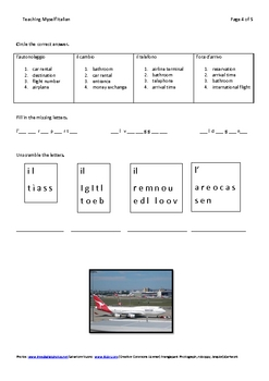 Italian Vocabulary-At The Airport