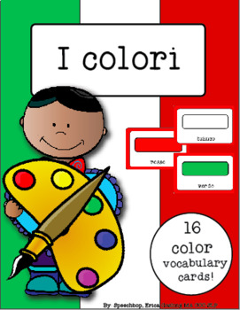 Italian Vocabulary Cards - Colors (i colori)