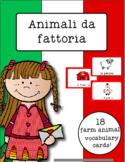 Italian Vocabulary Cards - Farm Animals (Animali da fattoria)