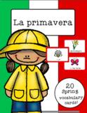 Italian Vocabulary Cards - Spring (La primavera)