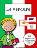 Italian Vocabulary Cards - Vegetables (Le verdure)