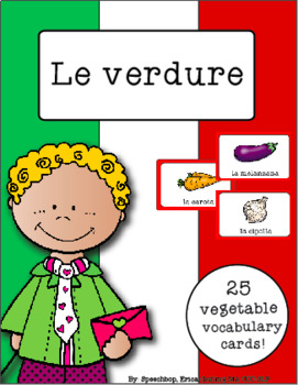Italian Vocabulary Cards - Vegetables (Le verdure)