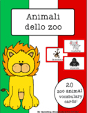 Italian Vocabulary Cards - Zoo Animals (Animali dello zoo)
