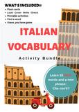 Italian Vocabulary Bundle