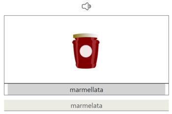 Italian Vocabulary interactive web-app: read, listen and write!