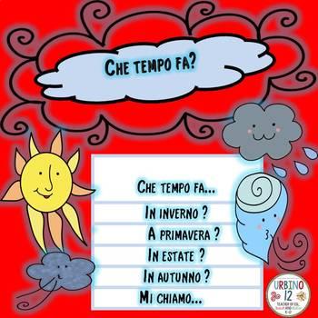 Italian: Weather  Flipbook Project