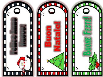 Italian  Winter Holiday Bookmarks