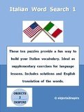 Italian Word Search 1: ten puzzles to build your Italian vocabulary