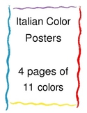 Italian Words Color Posters