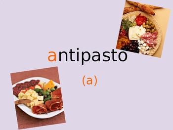 Italian alphabet lesson