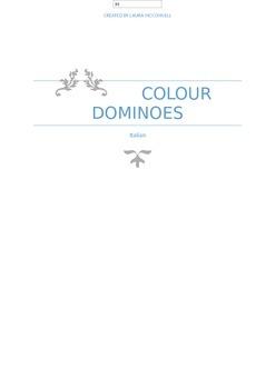 Italian colour dominoes, 3 games