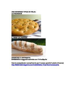 Italian cuisine (food & drinks)