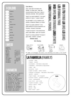 Italian exercise book cover - years 5 & 6