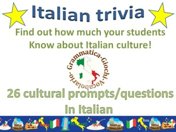 First day of school Italian Trivia