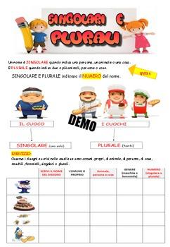Italian grammar: names,ebook di 16 pagine con tutti i nomi della lingua italiana