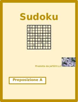 Italian preposition A Sudoku