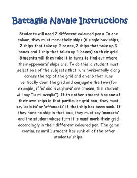 Italian reflexive verbs battaglia navale (battleship)