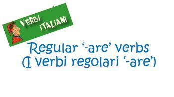 Italian Regular Verbs ('-are', '-ere' and '-ire') Present Tense Bundle