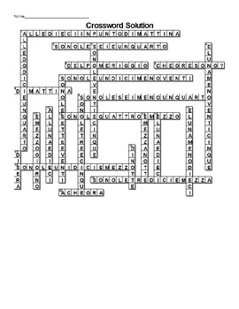 Italian telling time expressions Crossword
