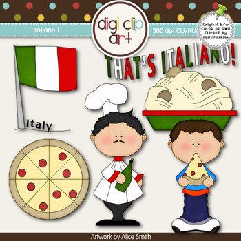 Italiano 1-  Digi Clip Art - CU Clip Art