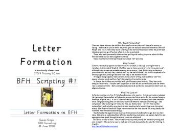 Italic Cursive #1 Letter Formation in BFH