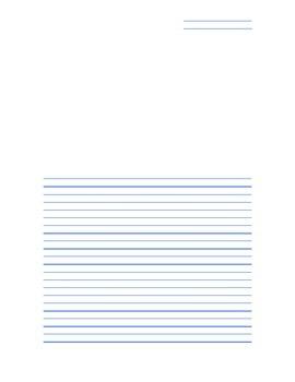 Italic Handwriting Paper with Three Windows (Blue)
