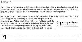 Italic Handwriting Part 1 basic/printing