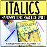 Italics Handwriting Practice Unit