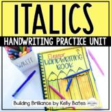 Italics Handwriting Practice Unit
