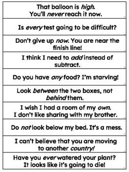 Italics Sentence Strips (Fluency Center) featuring Fry's third hundred words