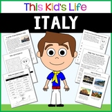 Italy Country Study: Reading & Writing Activities + PowerPoint Distance Learning