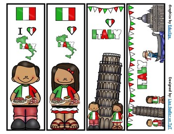Italy Bookmarks -  4 Designs