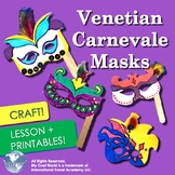 Italy! Carnival Masks from Venice - Fun Craft with Printab