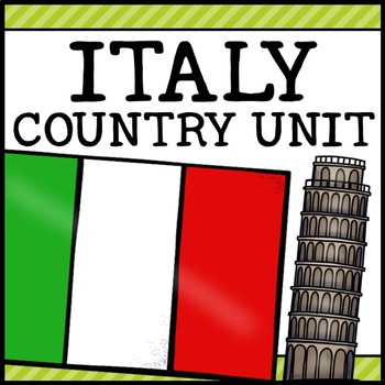 Italy Country Social Studies Complete Unit