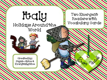 Italy Emergent Readers and Vocabulary Cards Holiday Around the World