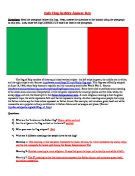 Italy Flag Activity