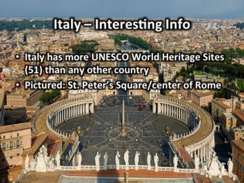 Italy PowerPoint - Geography, History, Government, Economy, Culture and More