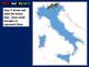 Italy Map Activity- fun, engaging, follow-along 24-slide PPT
