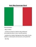 Italy Map Scavenger Hunt