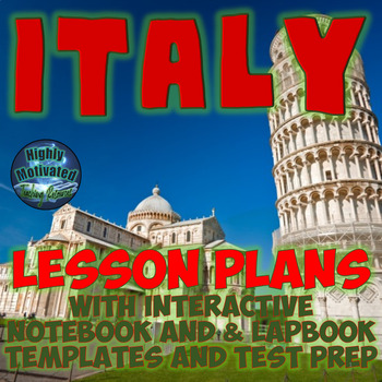 Italy Mega Lesson Plans Bundle with Interactive Notebook Activities & Test Prep