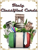 Italy Sights Landmarks, Montessori Classified Cards, Flash