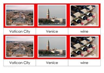 Italy - Montessori Nomenclature Cards