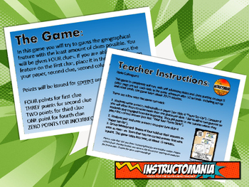 Italy Physical Geography Class GAME: World Scavenger Hunt Activity