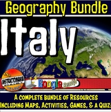 Italy Physical Geography Bundle Lesson Plans, Map Activiti
