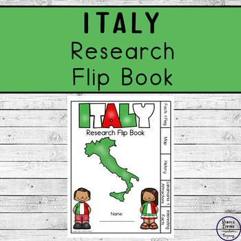 Italy Research Flip Book