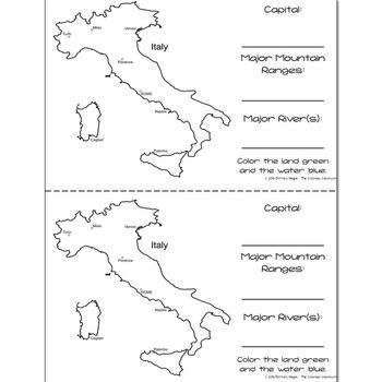 Italy - Research Mini Book