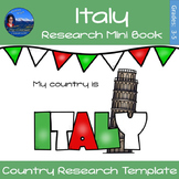 Italy - Research Mini Book