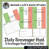 Italy Scavenger Hunt Card Game for Review - Geography, Facts, More