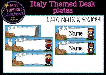 Italy Themed Desk Plates