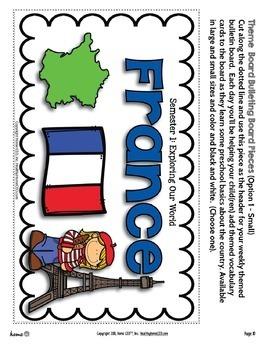 France - Week 11 Age 4 Preschool Homeschool Curriculum by Home CEO